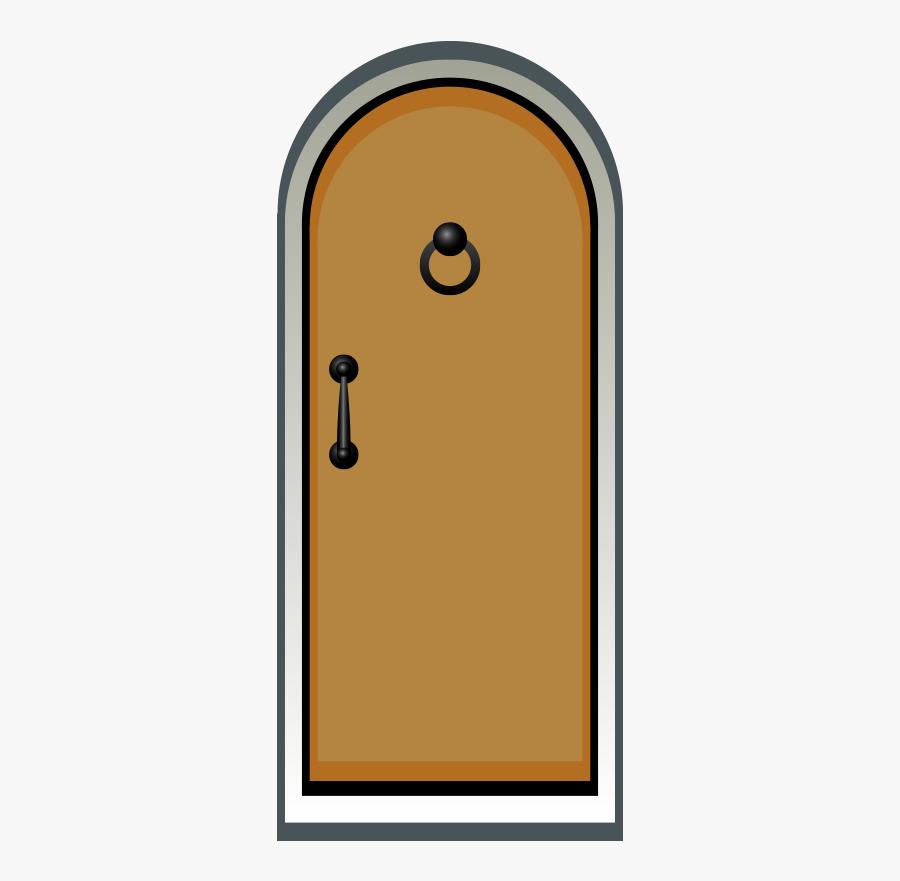 Door Clipart Line Drawing - Drawing Of Brown Door, Transparent Clipart