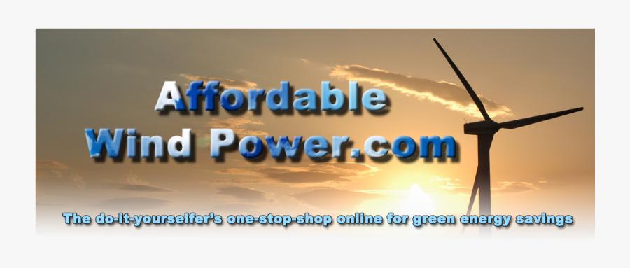 Awp Banner2 Lite - Wind Power Plants, Transparent Clipart