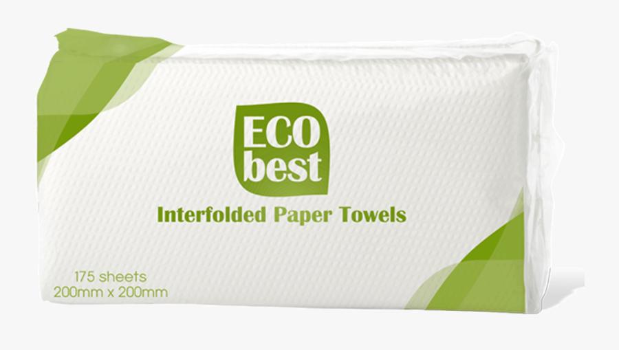 Eco Best Interfolded Paper Towels , 175 Pulls X - Graphic Design, Transparent Clipart