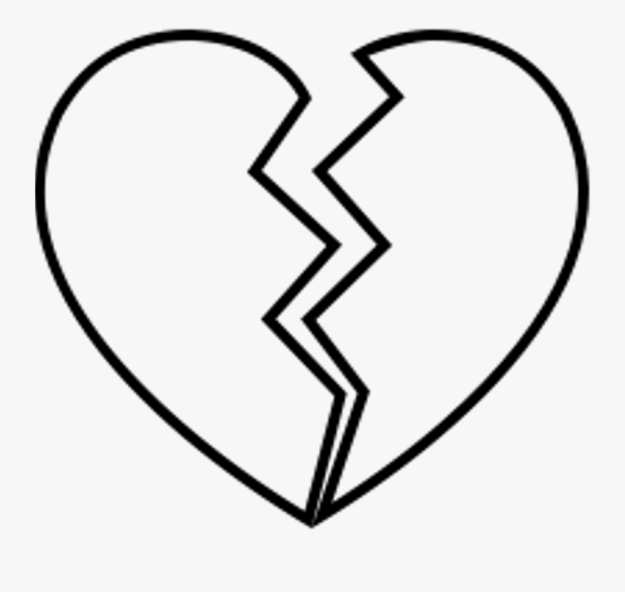Transparent Dibujar Clipart - Broken Heart Line Art, Transparent Clipart