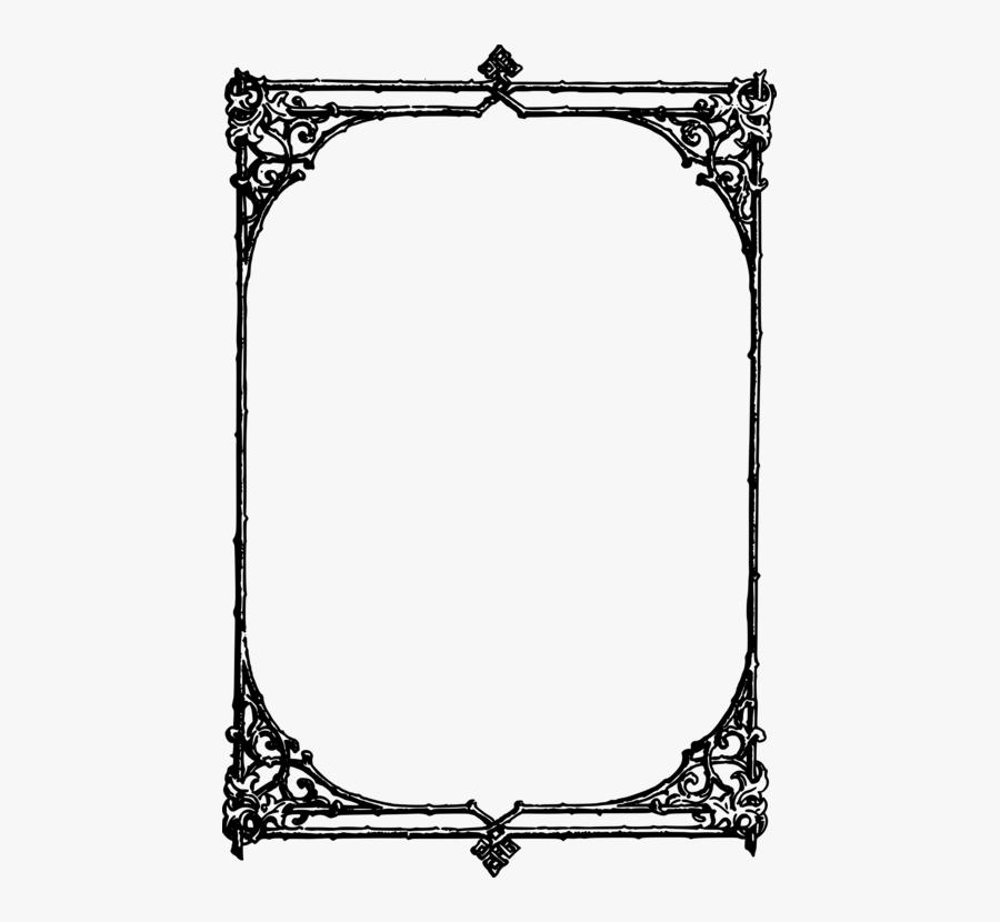 Picture Frame,symmetry,area - Clip Art Borders, Transparent Clipart