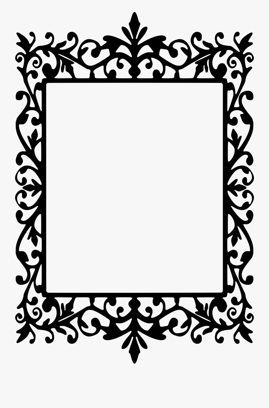 Clip Art Transparent Library Drawing Rectangle Frame - Vintage Frame Silhouette, Transparent Clipart