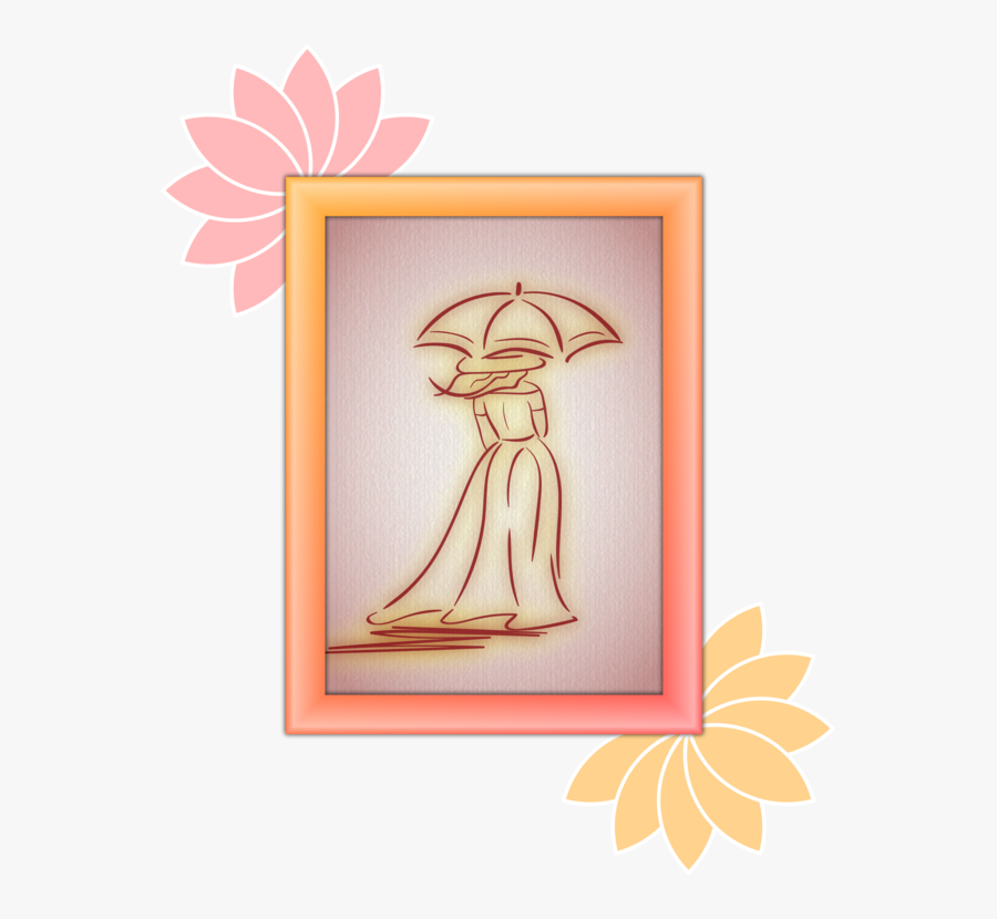 Picture Frame,flower,art - Illustration, Transparent Clipart