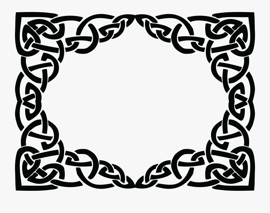 Transparent Celtic Knot Frame, Transparent Clipart