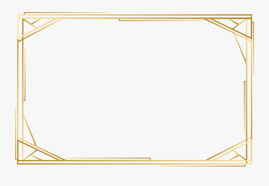 Angle Gold Point Pattern Frame Yellow Vector Clipart - Frame Vector Gold Png, Transparent Clipart