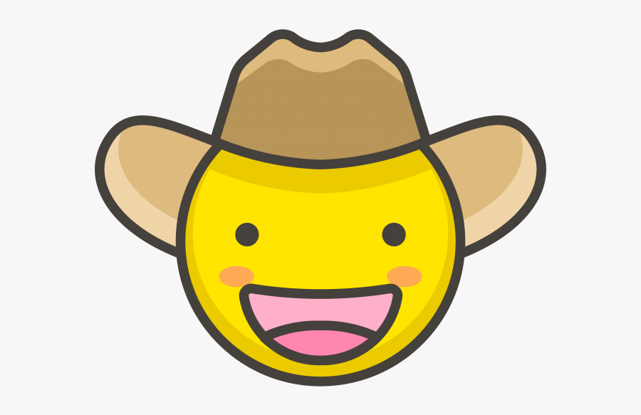 Cowboy Hat Face Emoji Clipart , Png Download - Hat, Transparent Clipart