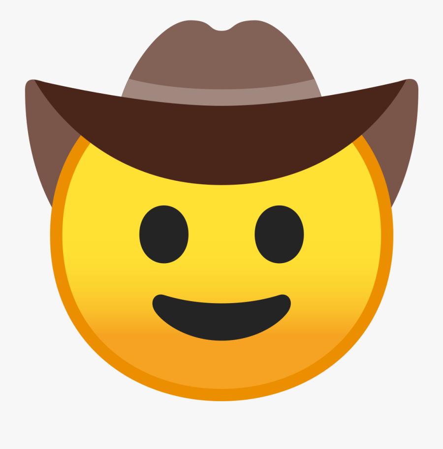 Cowboy Hat Face Icon - Cowboy Hat Smiley, Transparent Clipart