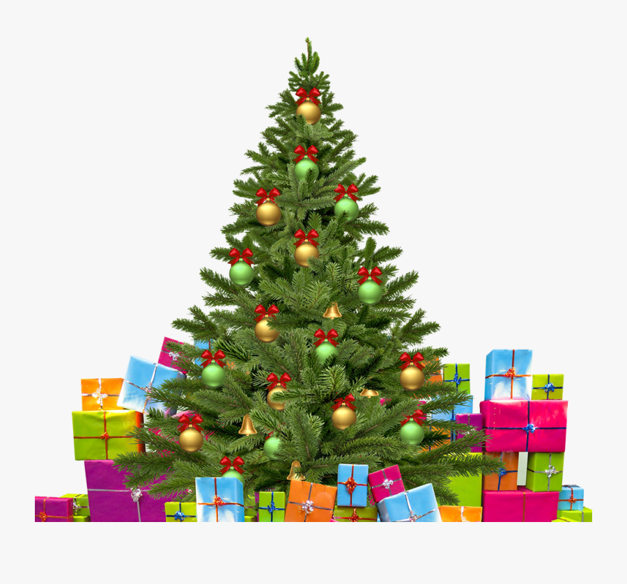 Christmas Tree With Gifts - Advance Happy Christmas Wishes, Transparent Clipart