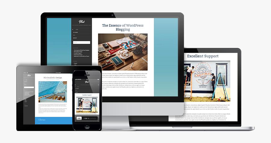 Clip Art Best Minimalist Wordpress - Free Flat Wordpress Themes, Transparent Clipart