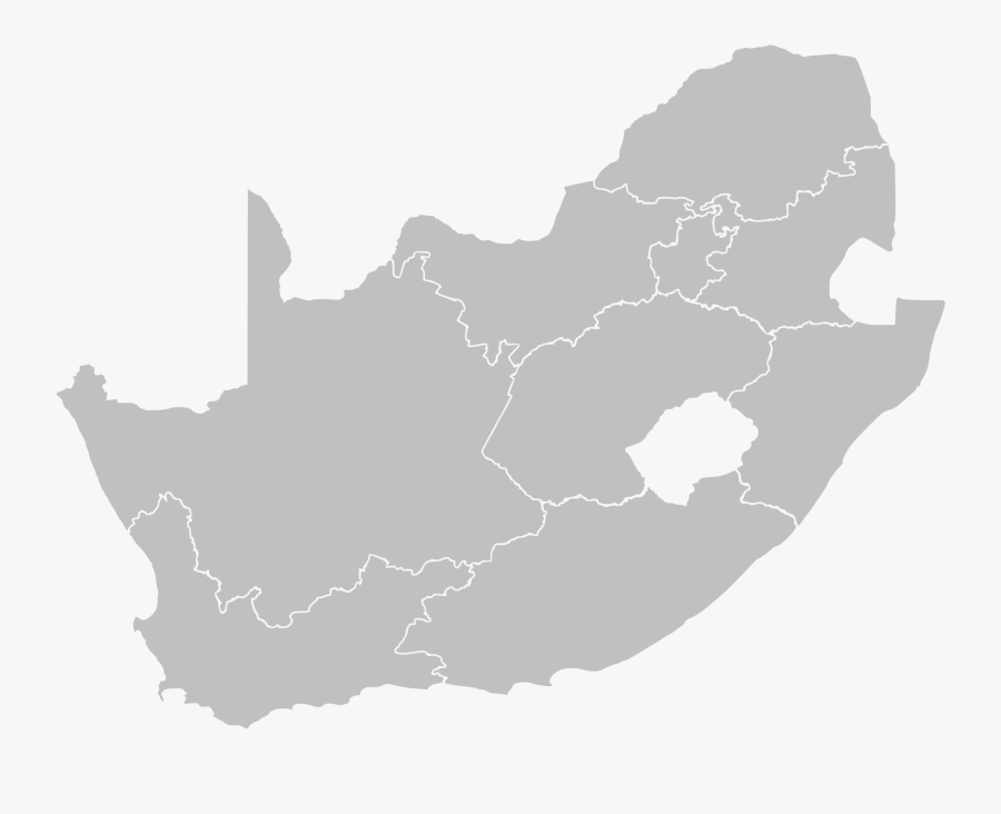 File South Africa Blank - South Africa Provinces Vector, Transparent Clipart