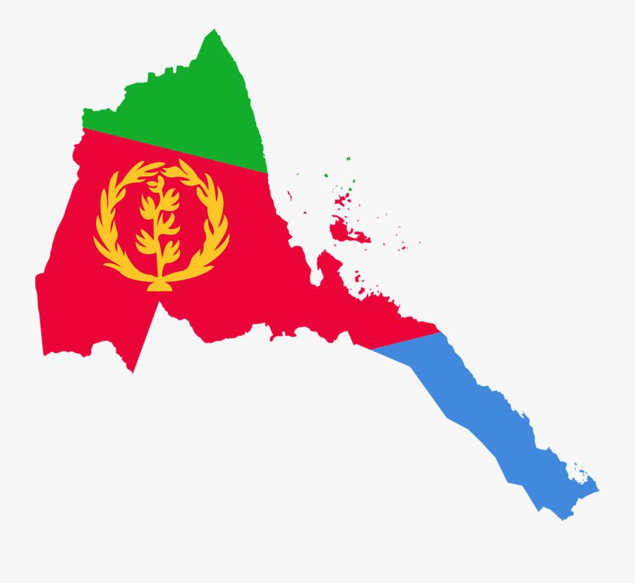 Eritrea Flag Map Free Picture - Eritrea Flag Map, Transparent Clipart