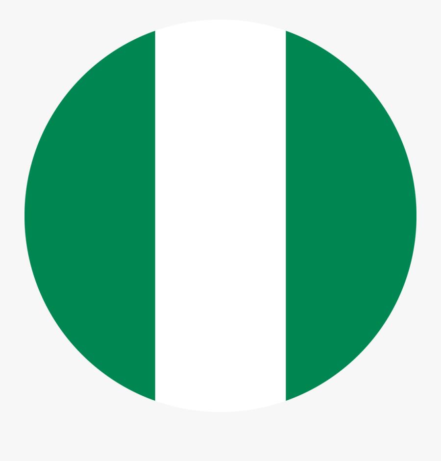 Nigeria Flag Round Medium Clipart , Png Download - Circle Nigerian Flag Transparent Background, Transparent Clipart