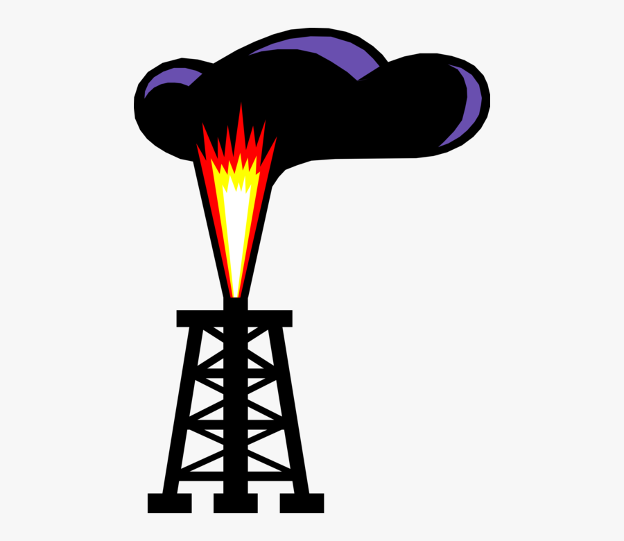 Vector Illustration Of Fossil Fuel Petroleum Indistry - Fossil Fuel Clipart, Transparent Clipart