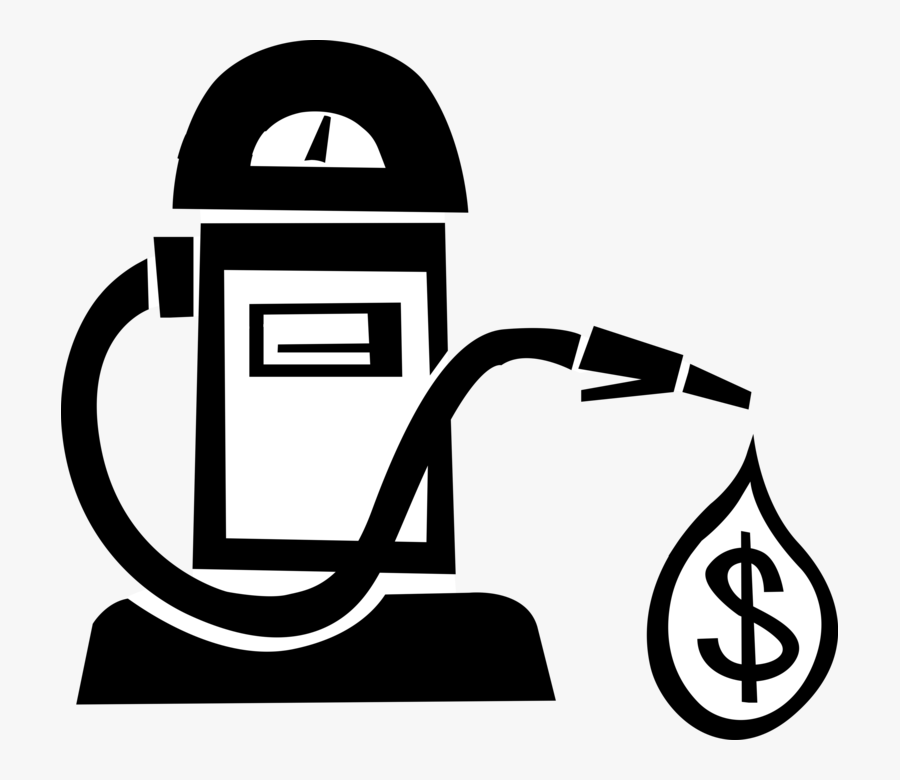Vector Illustration Of Financial Costs Of Fossil Fuel - Cost Of Fossil Fuel Png, Transparent Clipart