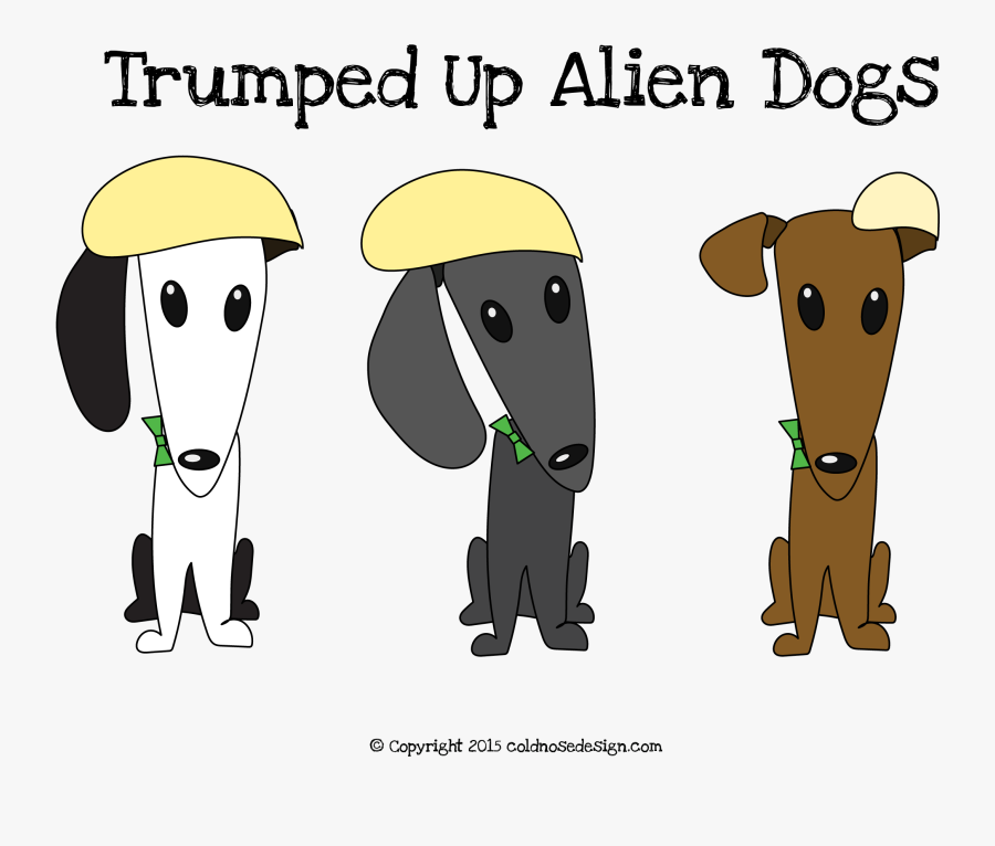 Alien Dogs Note Cards - Dog Licks, Transparent Clipart