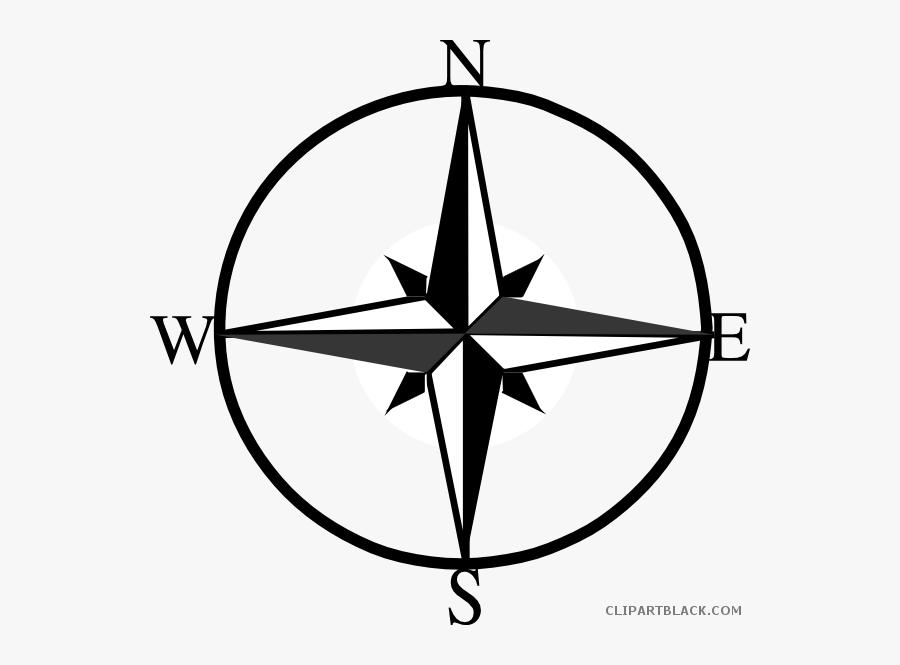 North East West Clipartblack - North East South West Symbol, Transparent Clipart