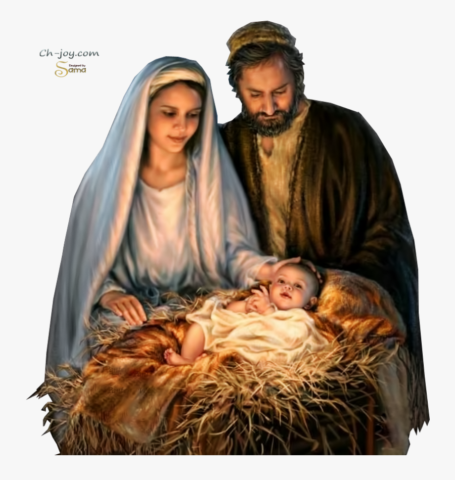 Holy Family, Merry Christmas Jesus, Mary Christmas, - Jesus Birth Png, Transparent Clipart
