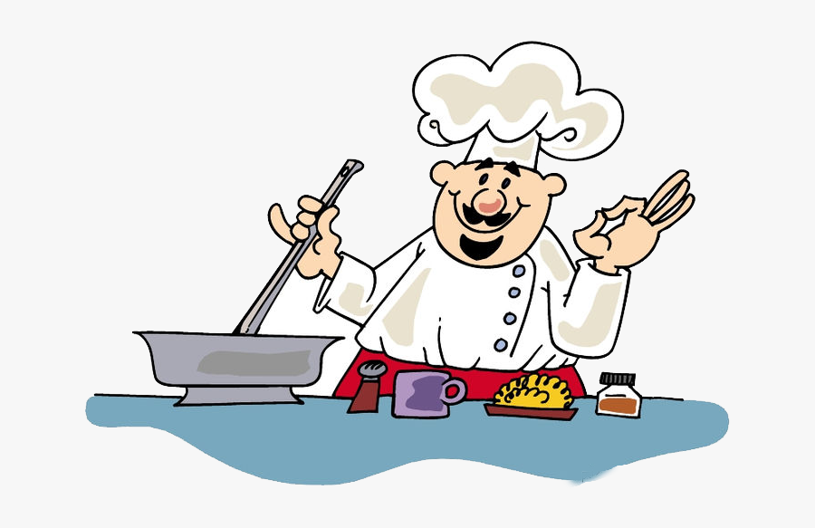 Clip Art Profession Cook - Draw A Man Who Is Cooking, Transparent Clipart