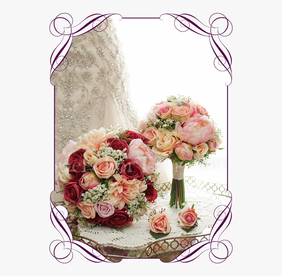Jenny Package Ii Gorgeous Artificial Bridal Bouquets - Flower Bouquet, Transparent Clipart