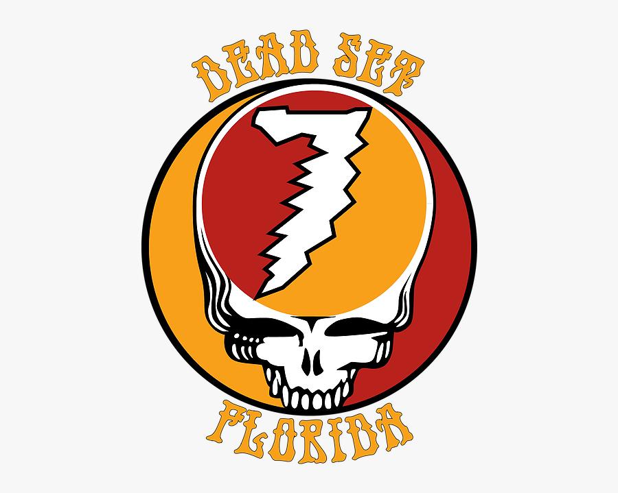 Dead Set Florida - Grateful Dead Steal Your Face, Transparent Clipart