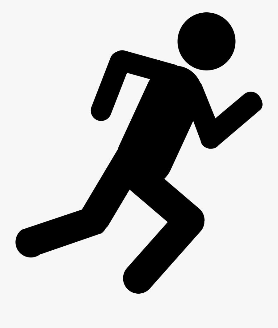 Running Stick Figure, Transparent Clipart