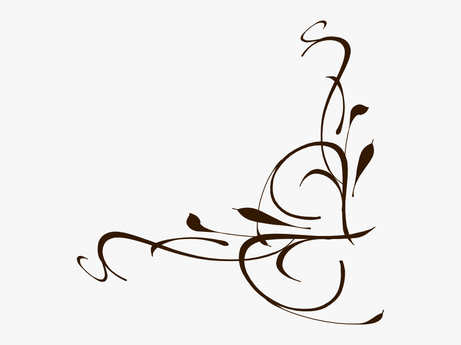 Floral Swirl Svg Clip Arts - Simple Design For Assignment Front Page, Transparent Clipart