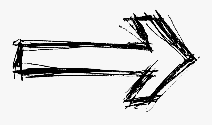Arrow Drawing Png White, Transparent Clipart