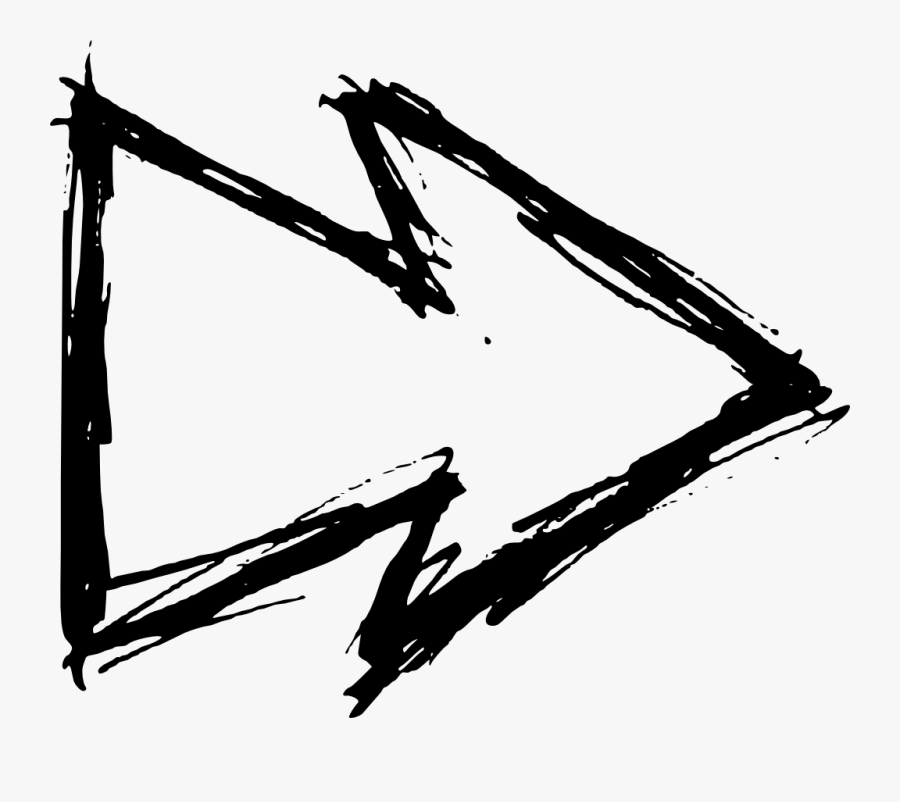 Hand Drawn Arrow - White Hand Drawn Arrow Png, Transparent Clipart