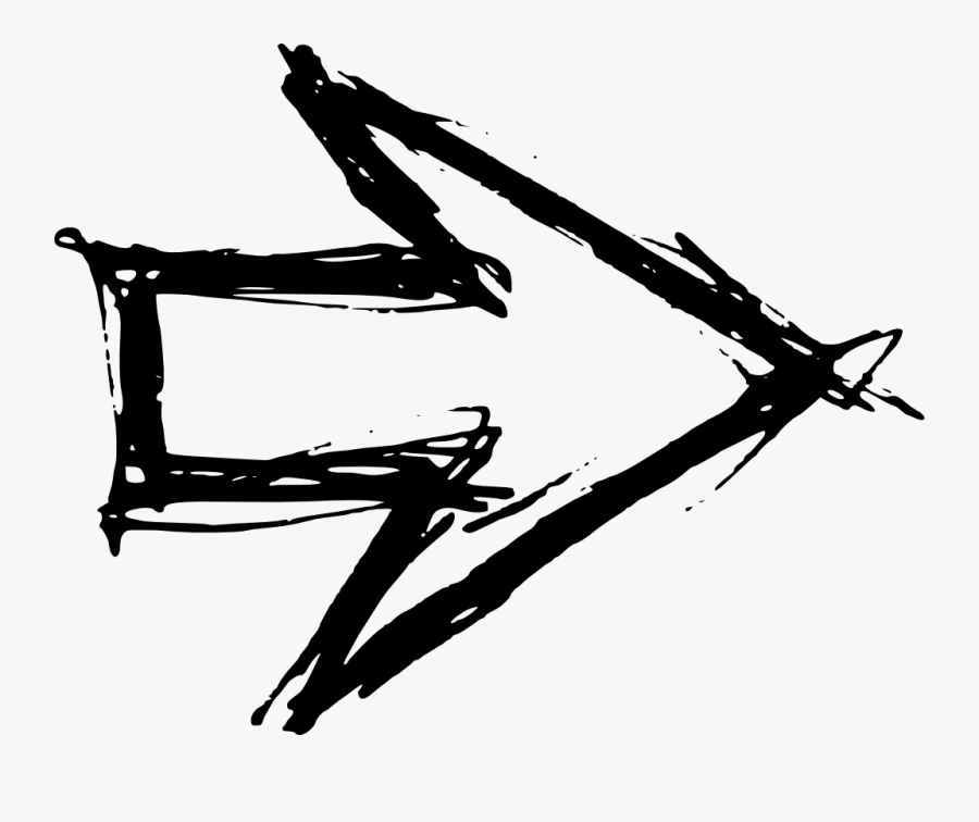 Hand Drawn Arrow - Hand Drawn Arrow Png Background, Transparent Clipart