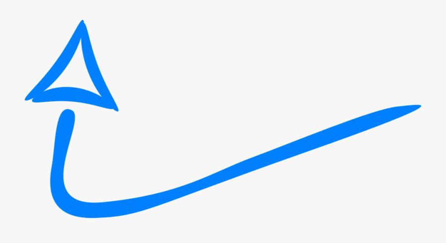Drawn Arrow Blue - Drawn Arrow Blue Png, Transparent Clipart