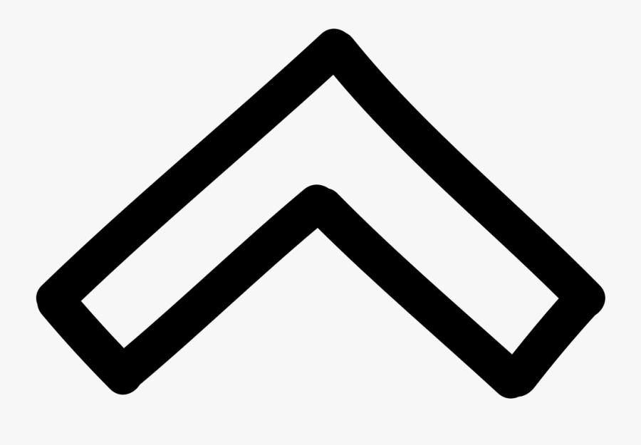 Up Arrow Hand Drawn Outline - Hand Drawn Up Arrow, Transparent Clipart