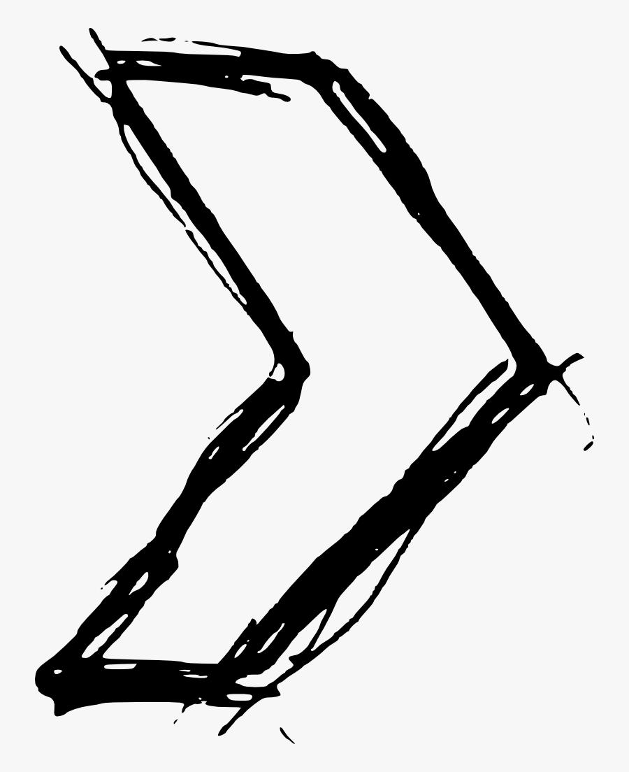Hand Drawn Arrow - Hand Drawn Arrow Png, Transparent Clipart