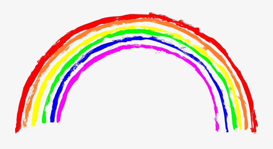 Rainbow Transparent Png - Rainbow Crayon Drawing Png, Transparent Clipart