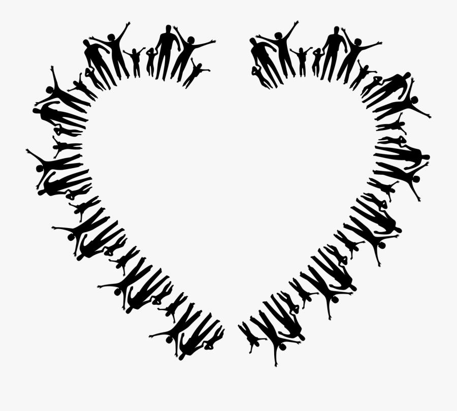 Love,leaf,symmetry - Transparent Happy Family Clipart, Transparent Clipart