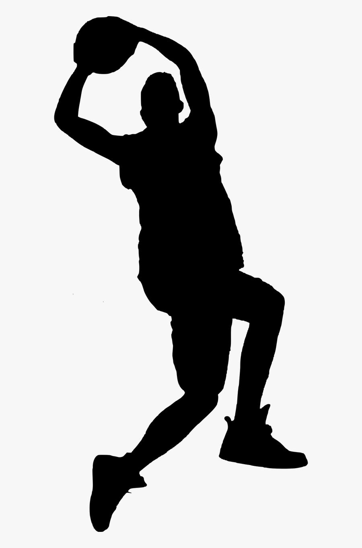 Nba Basketball Sport Silhouette Clip Art - Boy Basketball Silhouette Transparent, Transparent Clipart