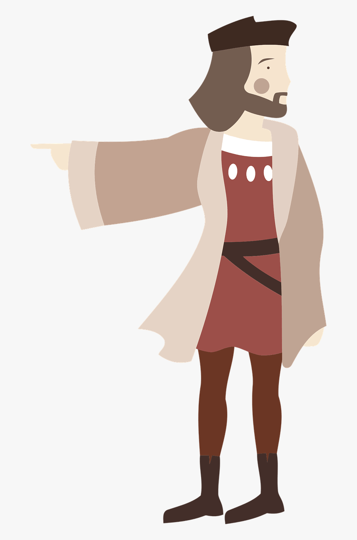 Standing Shoulder Art Christopher Columbus Cartoon Png Free Transparent Clipart Clipartkey