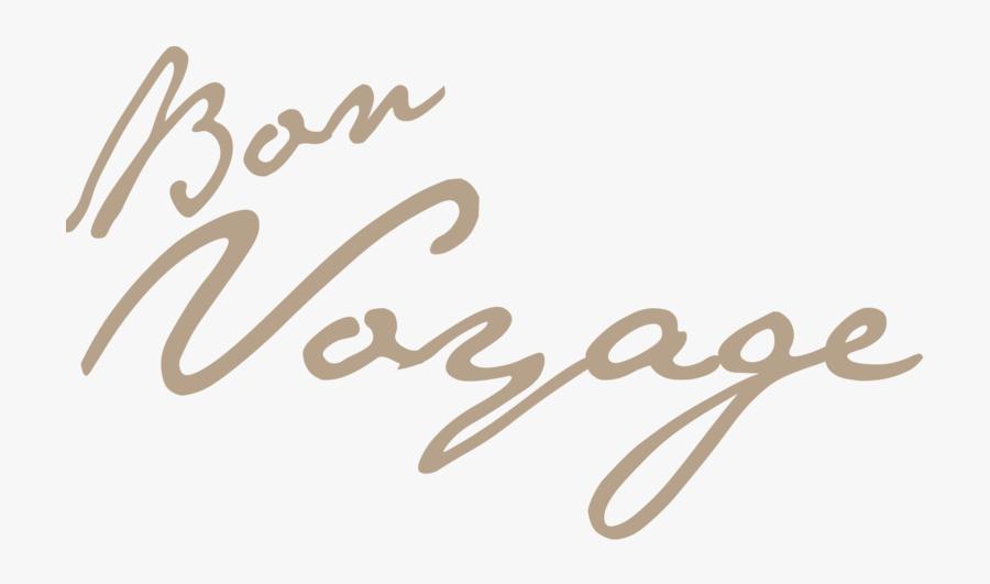 Png Bon Voyage - Bon Voyage No Background, Transparent Clipart