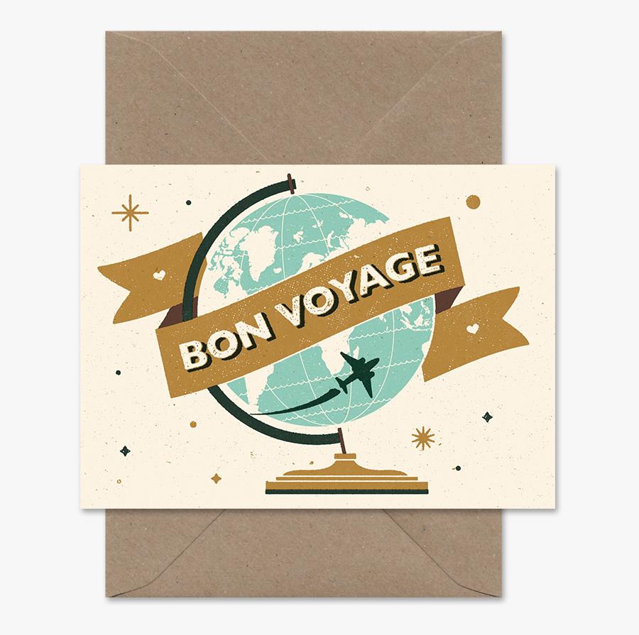 Clip Art Telegramme Paper Co - Bon Voyage, Transparent Clipart