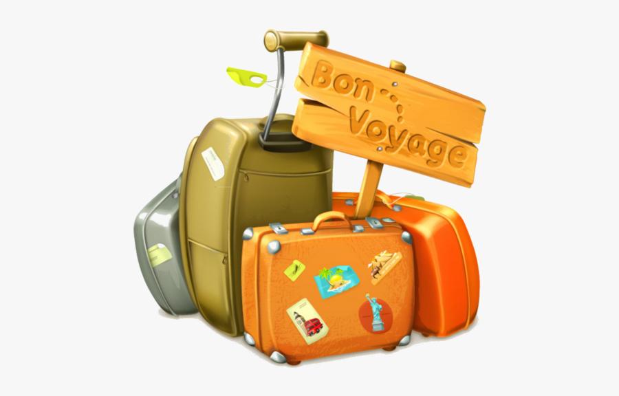 Valise Scrap Voyages Pinterest - Bon Voyage, Transparent Clipart