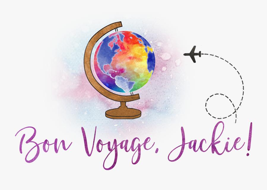 Transparent Bon Voyage Png - Globe, Transparent Clipart