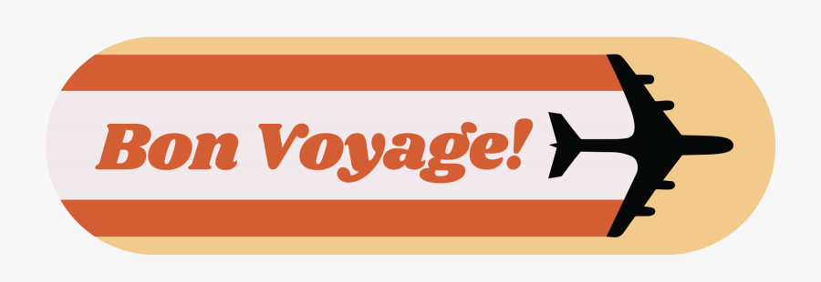 """Bon Voyage""""  Class=""""lazyload Lazyload Mirage Featured - Airplane Silhouette, Transparent Clipart"""