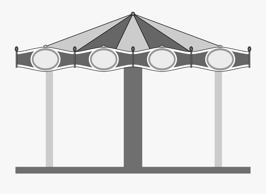 Transparent Merry Go Round Clipart Carnival - Carrousel Free Vector, Transparent Clipart