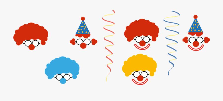 Clown, Carnival, Deco, Children, Funny - Carteles De Carnaval Infantil, Transparent Clipart