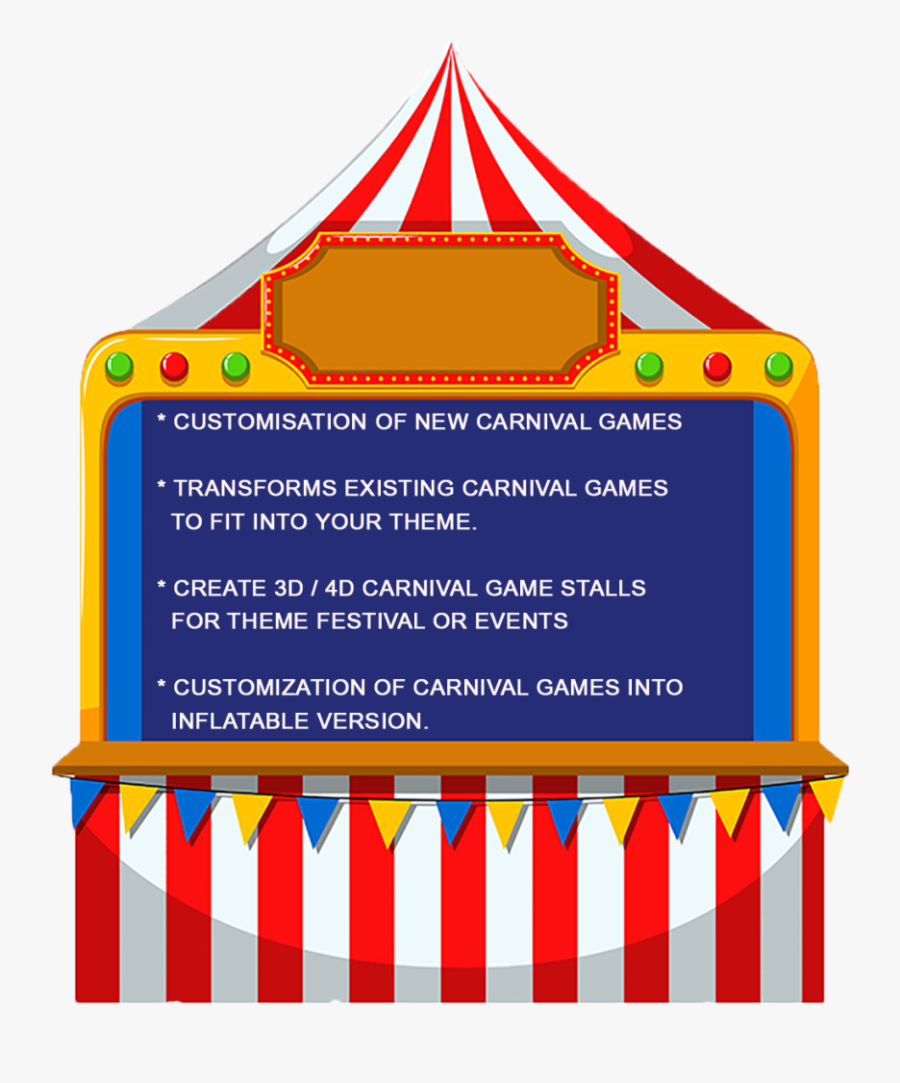 Booth Clipart Kids Carnival Games - Carnival Games Clip Art, Transparent Clipart