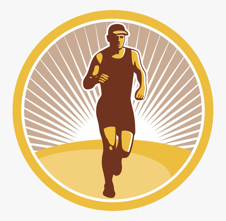 Runner Clipart Trail Run - Marathon Runner Vector, Transparent Clipart