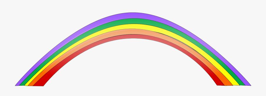 Rainbow Colorful Beautiful - Rainbow Cartoon Gif Png, Transparent Clipart