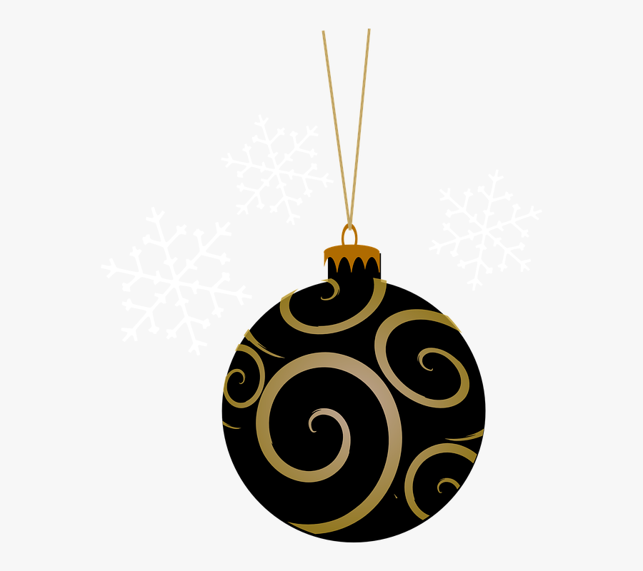 Bauble, Black, Tree, Round, Gold, Christmas, Holiday - Christmas Ornaments Clipart Pink, Transparent Clipart