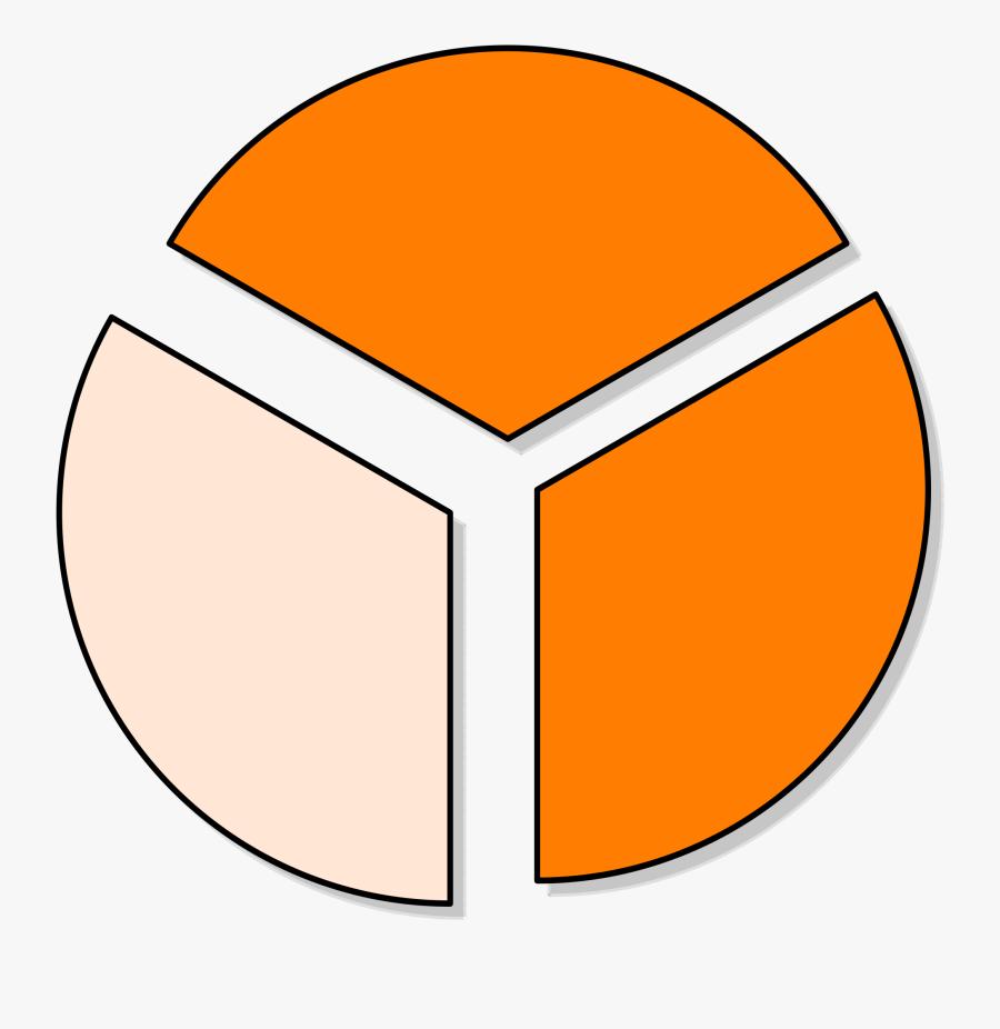 Collection Of Pie Chart Cliparts - Pie Graph 1 3, Transparent Clipart