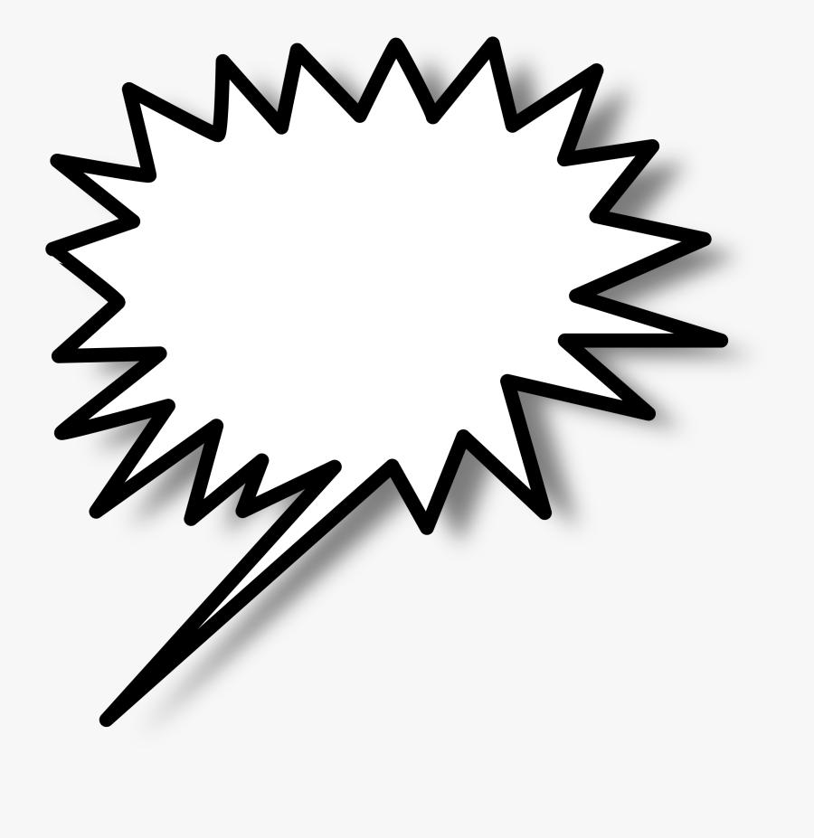 Callout Star Left - Spiky Speech Bubble Png, Transparent Clipart