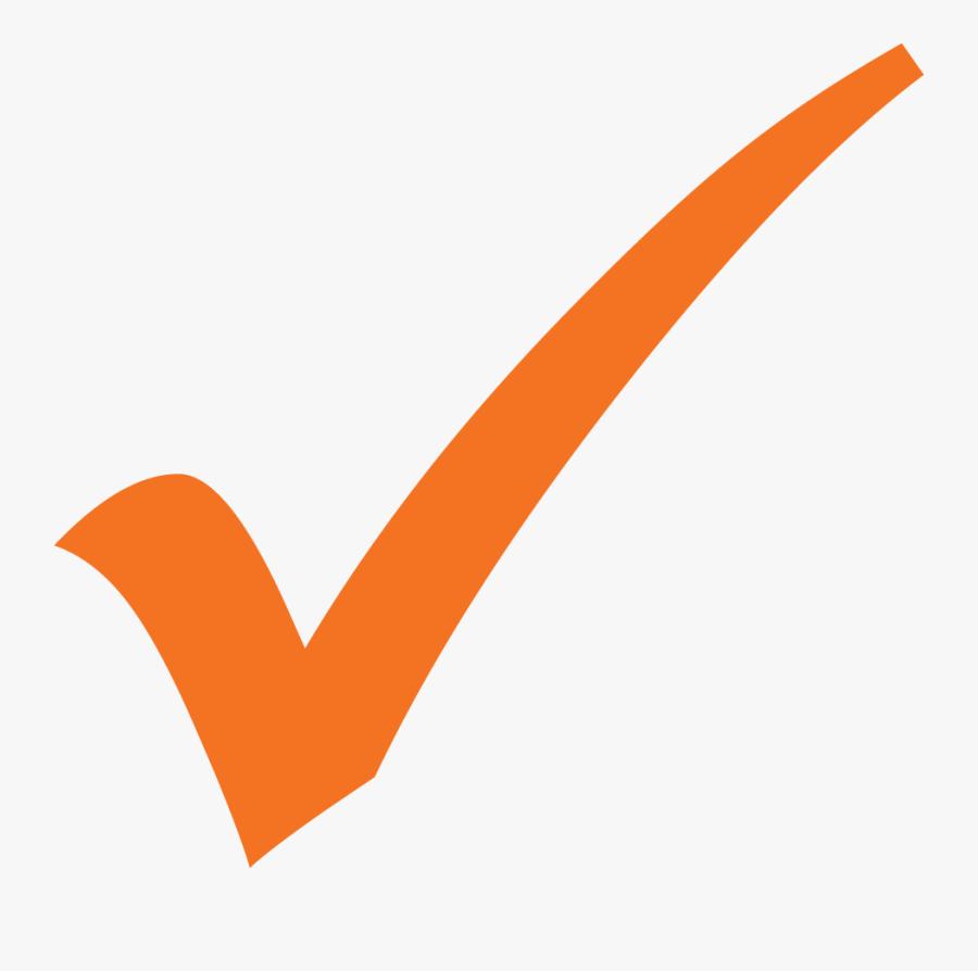 Transparent Building On Fire Clipart - Orange Check Mark, Transparent Clipart